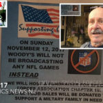 NORTH EAST – PATRIOTS STRONG – Woody's National Football League (NFL) Sunday TV BAN for Veterans Special Forces Fundraiser