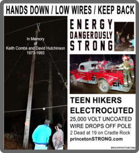 Historic Disasters –  Hands Down, Low Wire. Hikers on Cradle Rock Electrocuted. Princeton Strong