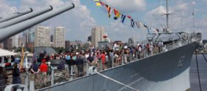 """E Pluribus Unum"" (""From many, one"") BATTLESHIP NEW JERSEY JULY 4th NATURALIZATION CEREMONY"